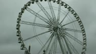 Stock Video Footage of Paris Ferris Wheel Stormy Sky