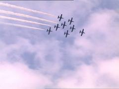 AEROBATIC SHOW formation Stock Footage