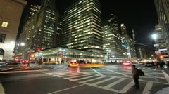 New York City Manhattan midtown time lapse crowd walking fast timelapse Stock Footage