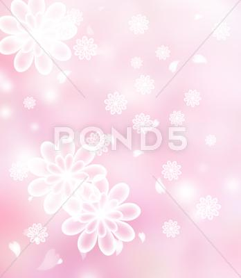 Stock Illustration of blossoms pastel pink illustration