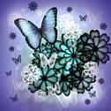 Butterflies and blossoms illustration Stock Illustration