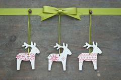 reindeer and loop - stock photo