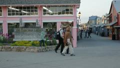 Old Fisherman's Wharf, Monterey, California - stock footage