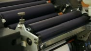 Stock Footage HD1080p -  Offset Press - ink rollers rotating Stock Footage