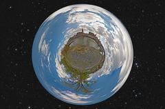 little planet regensburg - stock photo