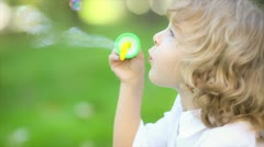 soap bubbles - stock footage