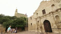 The Alamo San Antonio - stock footage