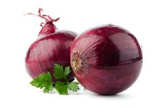 red sliced onion - stock photo