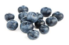 group of fresh blueberries - stock photo
