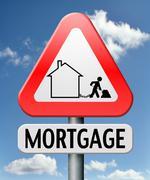 Mortage house loan Stock Photos