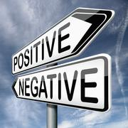 positive or negative - stock illustration