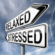 Relaxed or stressed Stock Illustration