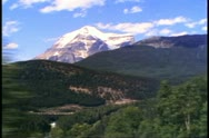 "Stock Video Footage of ""The Canadian"" train, POV from train passing Mount Robson"