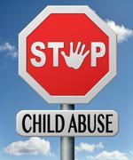 stop child abuse - stock illustration