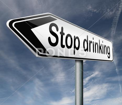 Stock Illustration of stop drinking