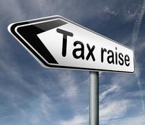 Tax raise Stock Illustration