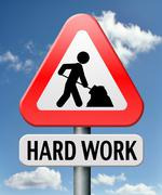 Hard work Stock Illustration