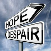 hope or despair - stock illustration