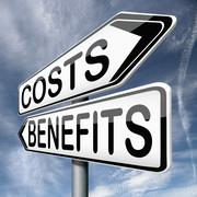 Costs and benefits Stock Illustration