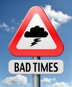Bad times Stock Illustration