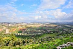 israeli landscape - stock photo