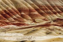 The geology of the painted hills oregon state Stock Photos