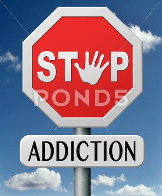 Stock Illustration of addiction