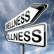 wellness or illness - stock illustration