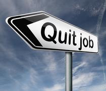 quit job - stock illustration