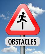 obstacles - stock illustration