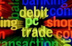 Debit pc trade Stock Illustration