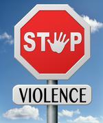 Stop violence Stock Illustration
