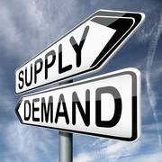 Supply and demand Stock Illustration