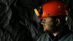 Coal miner - stock footage