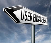 user engagement - stock illustration