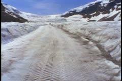 Jasper National Park, Alberta, Canada, Snow Coach bus glacier, POV Stock Footage