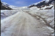 Jasper National Park, Alberta, Canada, Snow Coach bus glacier, POV Stock Footage