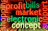 Electronic market and profit concept Stock Illustration