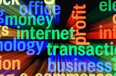 money internet transaction - stock illustration