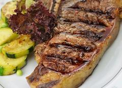 t bone steak - stock photo