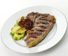 T bone steak Stock Photos