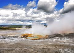 Clepsydra geyser Stock Photos