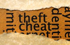 Theft and cheat Stock Photos