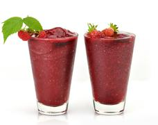 cold fruit drinks - stock photo