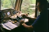 Engineer in the locomotive of