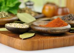 spices arrangement - stock photo