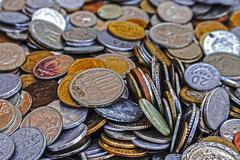 Old coins 11 Stock Photos