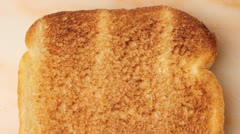 toast and jam - stock footage