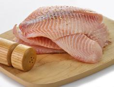 tilapia fillet - stock photo