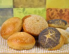 breakfast rolls - stock photo